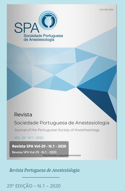 Ver Vol. 29 N.º 1 (2020): Revista da Sociedade Portuguesa de Anestesiologia