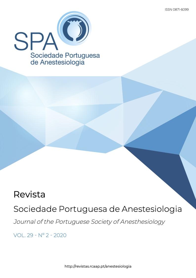 Ver Vol. 29 N.º 2 (2020): Revista da Sociedade Portuguesa de Anestesiologia