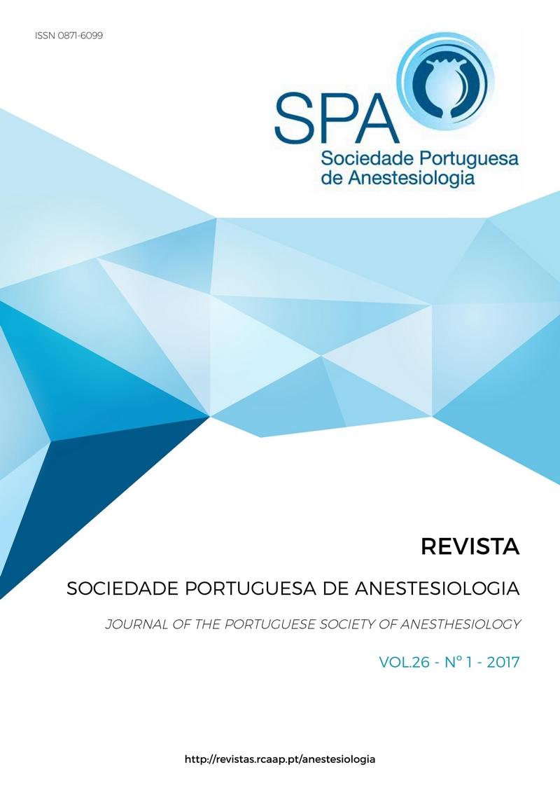 Ver Vol. 26 N.º 1 (2017): Revista da Sociedade Portuguesa de Anestesiologia
