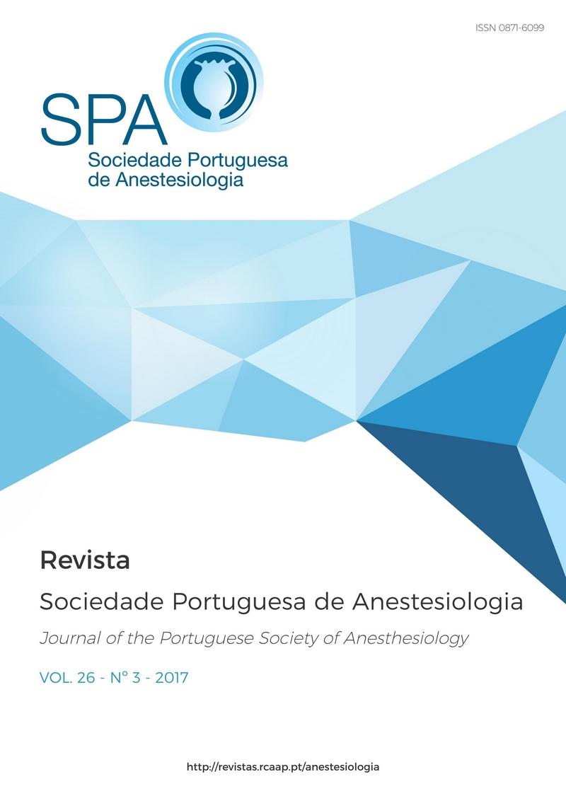 Ver Vol. 26 N.º 3 (2017): Revista da Sociedade Portuguesa de Anestesiologia