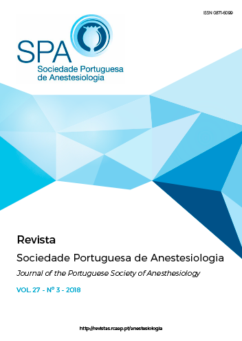 Ver Vol. 27 N.º 3 (2018): Revista da Sociedade Portuguesa de Anestesiologia