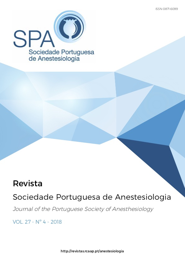 Ver Vol. 27 N.º 4 (2018): Revista da Sociedade Portuguesa de Anestesiologia