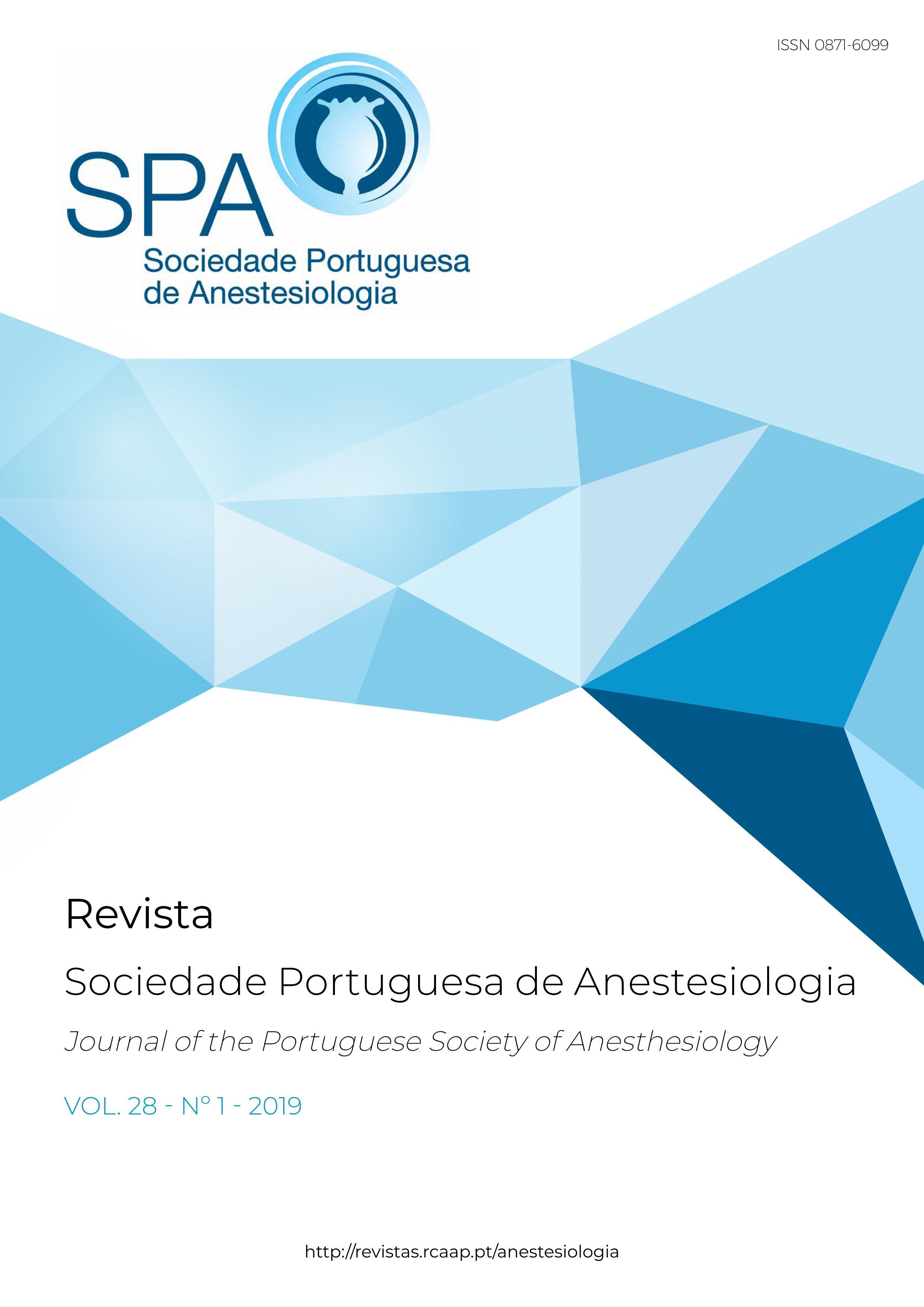 Ver Vol. 28 N.º 1 (2019): Revista da Sociedade Portuguesa de Anestesiologia