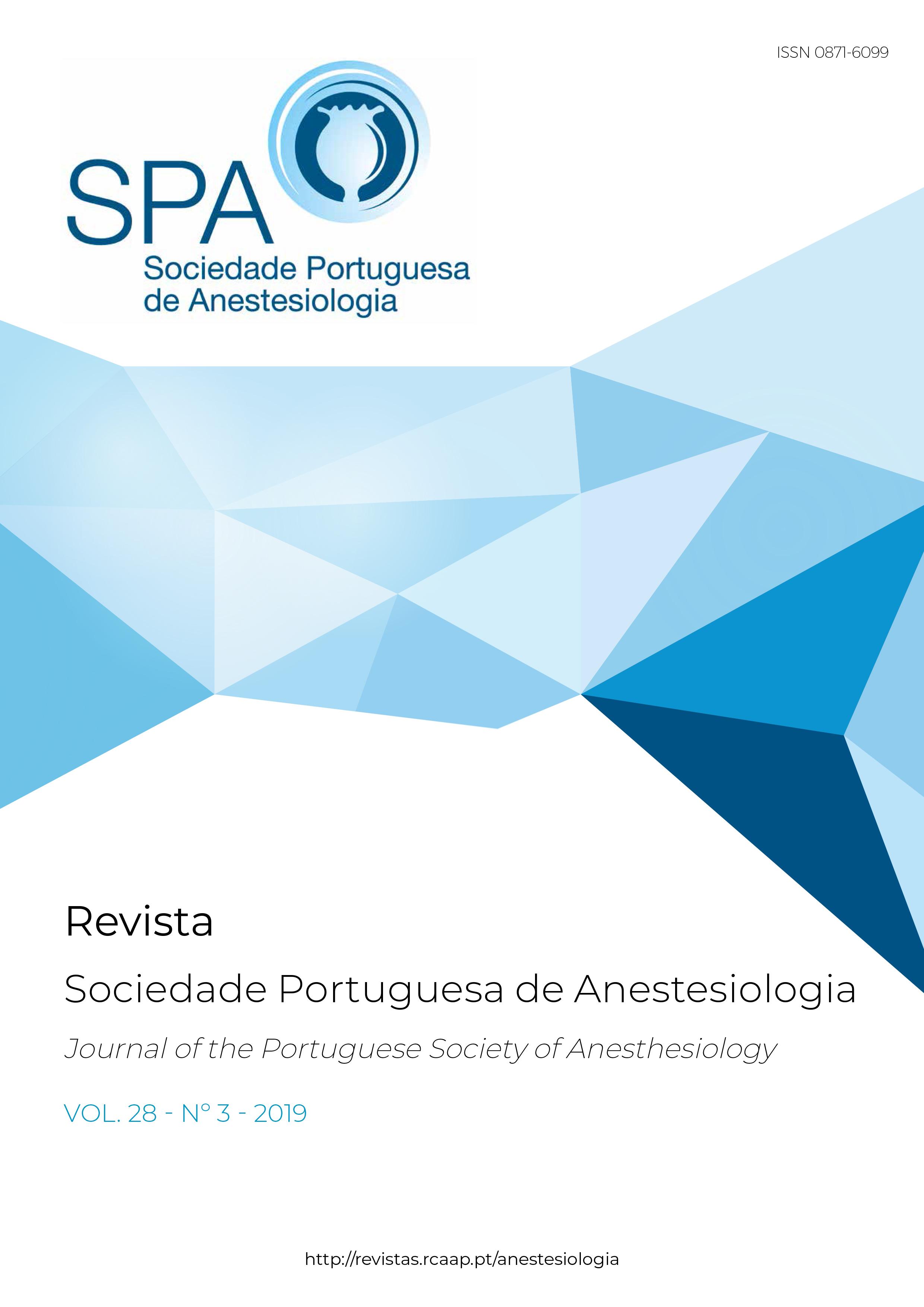 Ver Vol. 28 N.º 3 (2019): Revista da Sociedade Portuguesa de Anestesiologia