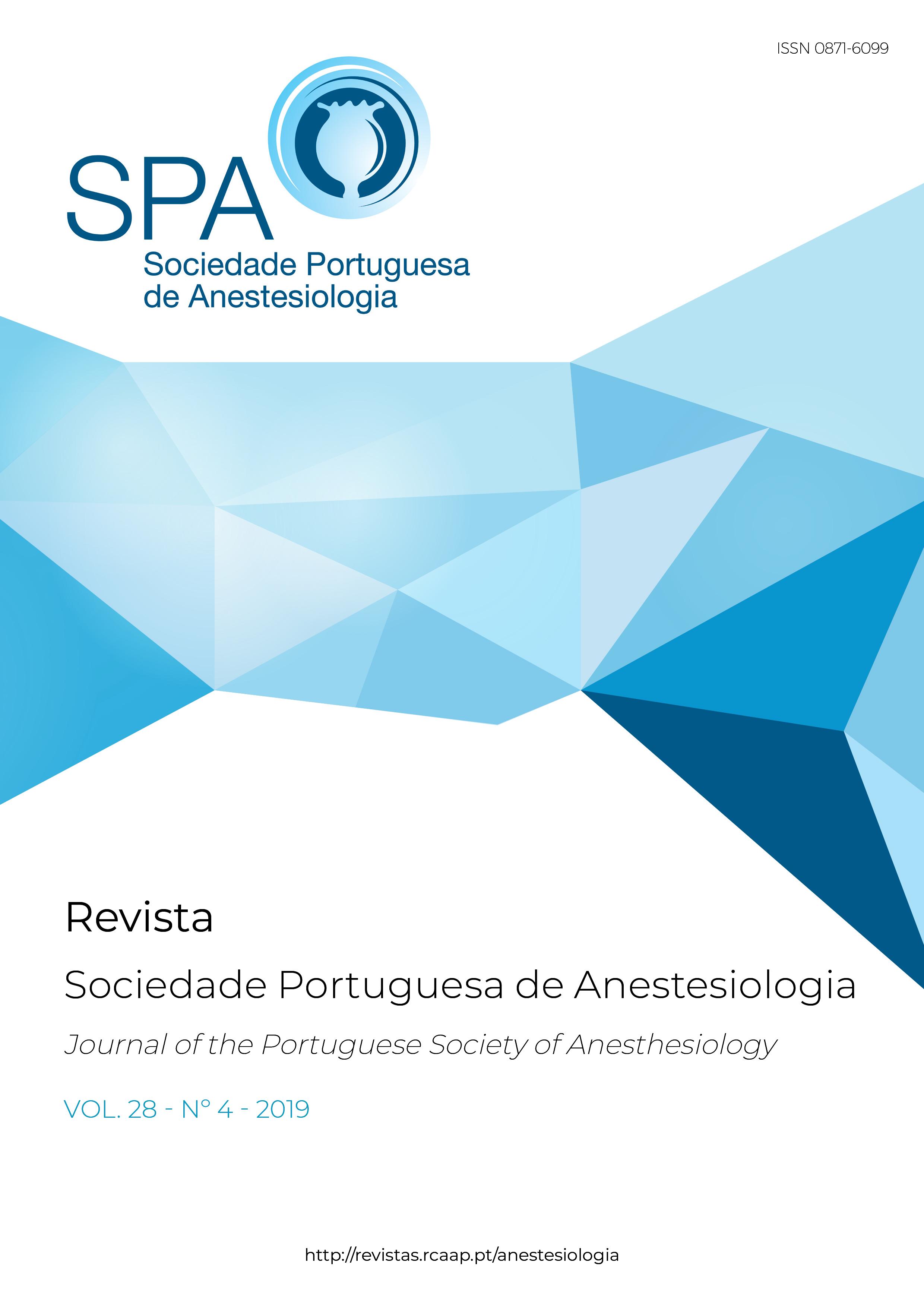 Ver Vol. 28 N.º 4 (2019): Revista da Sociedade Portuguesa de Anestesiologia