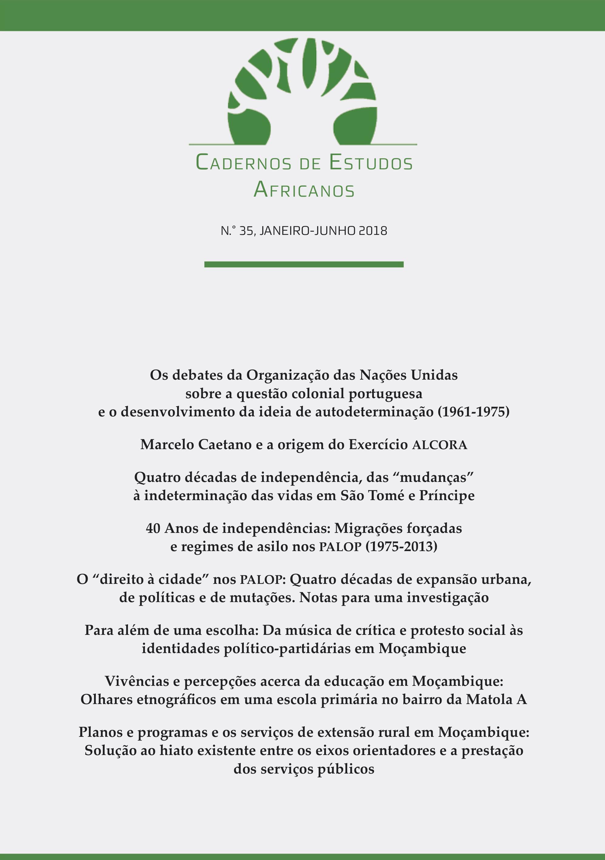 Ver N.º 35 (2018): Da Resistência Colonial aos Desafios da Contemporaneidade: 40 anos de independência das colónias portuguesas